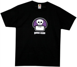 Image Closeup for Nintendo Game Over Poison Mushroom T-Shirt