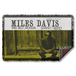 Image for Jazz & Blues Woven Tapestry - Miles Davis and Milt Jackson