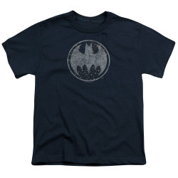 Image for Batman Youth T-Shirt - Starry Night Shield