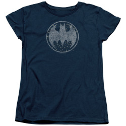 Image for Batman Woman's T-Shirt - Starry Night Shield