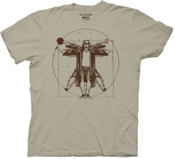Image for The Big Lebowski T-Shirt - Vitruvian Dude