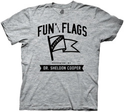 Image for Big Bang Theory T-Shirt - Fun with Flags Collegiate