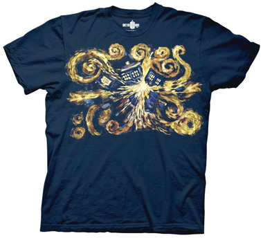 Image for Doctor Who T-Shirt - Van Gogh Pandoric Opens