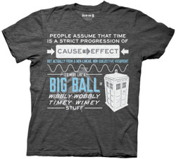 Image for Doctor Who T-Shirt - Wobbly Quote
