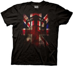 Image for Doctor Who T-Shirt - Tardis Union Jack