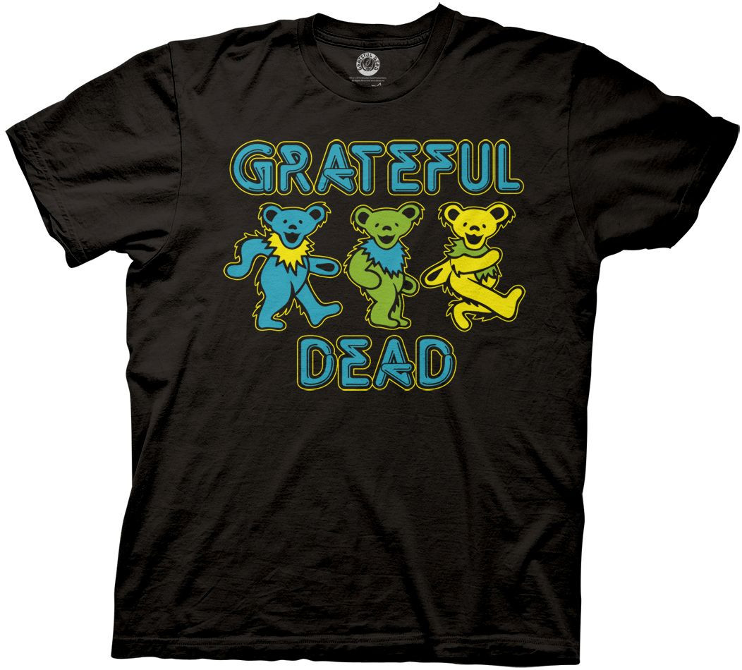 32b3884f6df Grateful Dead T-Shirt Three Dancing Bears - NerdKungFu