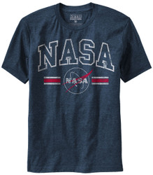 Image for NASA T-Shirt - Collegiate Letters & Logo