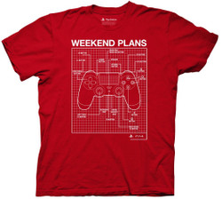 Image for Playstation T-Shirt - Weekend Plans