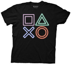 Image for Playstation T-Shirt - Neon Icons