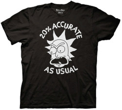 Image for Rick and Morty T-Shirt - 20% Accurate