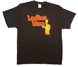 Image Closeup for Simpsons Homer Ladies Man T-Shirt