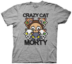 Image for Rick and Morty T-Shirt - Crazy Cat Morty