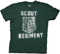 Image for Attack on Titan T-Shirt - Splatter Paint Scout Regiment