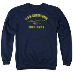 Image for Star Trek Crewneck - Enterprise Athletic