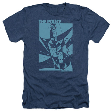 Image for The Police Heather T-Shirt - Message in a Bottle