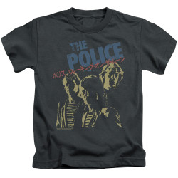 Image for The Police Japanese Poster Kid's T-Shirt