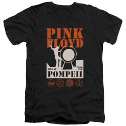 Image for Pink Floyd V Neck T-Shirt - Pompeii