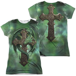 Image for Anne Stokes Girls Sublimated T-Shirt - Woodland Guardian