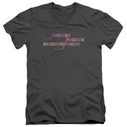 Image for Mr. Rogers T-Shirt - V Neck - Colorful Logo