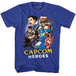 Image for Capcom Heroes Cartoon Mashup T-Shirt