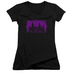 Image for Fantastic Beasts: the Crimes of Grindelwald Girls V Neck - Howarts Silhouette