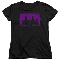 Image for Fantastic Beasts: the Crimes of Grindelwald Womans T-Shirt - Howarts Silhouette