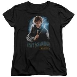 Image for Fantastic Beasts: the Crimes of Grindelwald Womans T-Shirt - Scamander Monogram