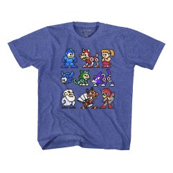 Image for Megaman The Cast Youth T-Shirt