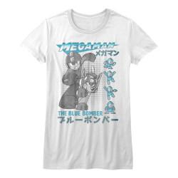 Image for Megaman Girls T-Shirt - Blue Bomber