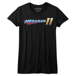 Image for Megaman Girls T-Shirt - Mega Logo