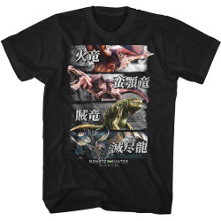 Image for Monster Hunter 4 Monsters T-Shirt