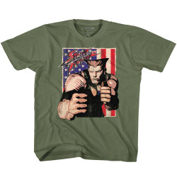Image for Street Fighter Guile With Flag Toddler T-Shirt