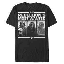 Image for Star Wars Rebellion's Most Wanted T-Shirt