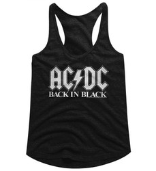 Image for AC/DC Back in Black 2 Classic Juniors Racerback Tank Top