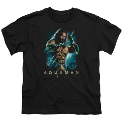Image for Aquaman Movie Youth T-Shirt - Trident