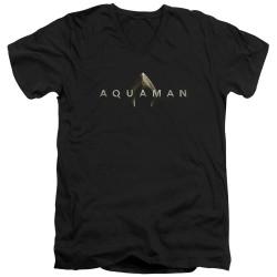 Image for Aquaman Movie V Neck T-Shirt - Logo