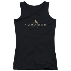 Image for Aquaman Movie Girls Tank Top - Logo