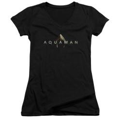 Image for Aquaman Movie Girls V Neck - Logo