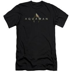Image for Aquaman Movie Premium Canvas Premium Shirt - Logo