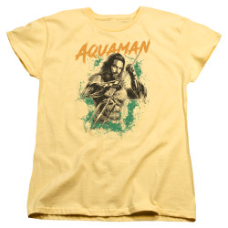 Image for Aquaman Movie Womans T-Shirt - Locals Only