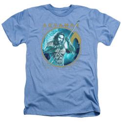 Image for Aquaman Movie Heather T-Shirt - Trident of Neptune