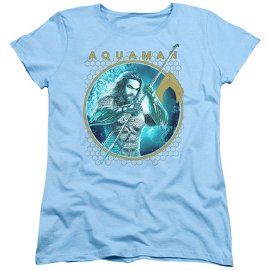 Image for Aquaman Movie Womans T-Shirt - Trident of Neptune