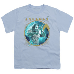 Image for Aquaman Movie Youth T-Shirt - Trident of Neptune