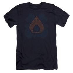 Image for Aquaman Movie Premium Canvas Premium Shirt - Aqua Paisley