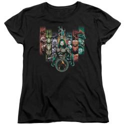 Image for Aquaman Movie Womans T-Shirt - Unite the Kingdoms