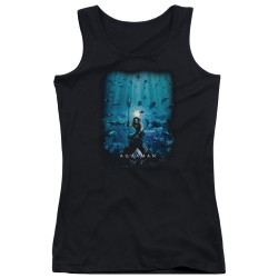 Image for Aquaman Movie Girls Tank Top - Poster