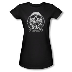Image Closeup for Sons of Anarchy Girls T-Shirt - SOA Club