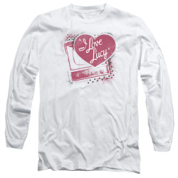 Image for I Love Lucy Long Sleeve T-Shirt - Spray Paint Heart