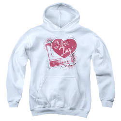 Image for I Love Lucy Youth Hoodie - Spray Paint Heart