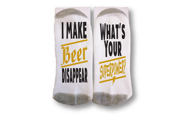 Image for I Make Beer Disappear Socks